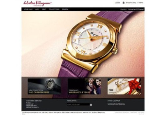 Ferragamo E-Shop Homepage